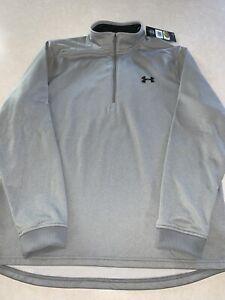 Under Armour Men's 1320745 Fleece 1/2 Zip Gray Heather Pullover Shirt Large NWT