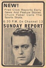 1964 TV NEWS AD~WLWI NEWS FRED CLICK~SPORTS REPORT CHUCK FABER~INDIANAPOLIS,IN