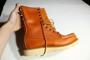 Vintage Red Wing Irish Setter  877 Moc Toe Hunting Boots Brown Sz 7.5 C (new!)