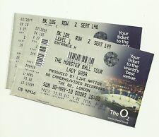 Lady Gaga unused tickets Monster Ball Tour London O2 2010