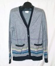 Koto Urban Outfitters Cardigan Heathered Gray Striped 100% Cotton Men's L