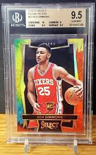 2016-17 Panini Select Ben Simmons Prizm Tie-Dye #60 Rc Rookie 12/25 BGS 9.5 HOT!