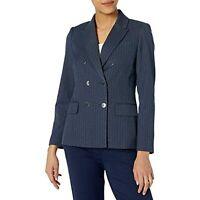 Tahari ASL Women's Pinstripe Blazer Suit Jacket, Blue, Size 10, $149, NwoT