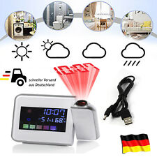 Funk Wetterstation Digital Thermometer Hygrometer Uhr Wecker Farbdisplay Display