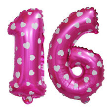 16 Figures Foil Balloon Birthday Anniversary Inflatable Party Decor