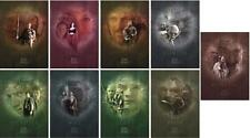 Limited Ed Tolkien Lord Of The Rings Character Portfolio 9 Prints + Map & Coa