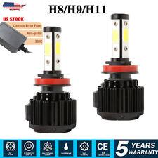 4Sides H11 LED Bulbs Headlight Kit  Fog Lamp 48000LM CANBUS Conversion Kit 6000K