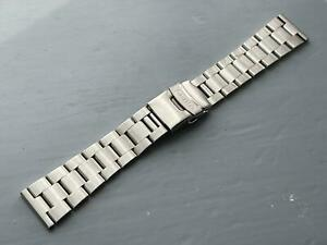 22MM SEIKO Oyester Stainless Steel Mens Watch STRAP FLAT LUGS.