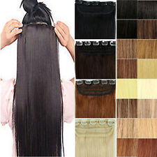 "ONE PIECE CLIP IN REMY REAL 100% HUMAN HAIR EXTENSIONS 16""18""20""22"" US SHIP vv"