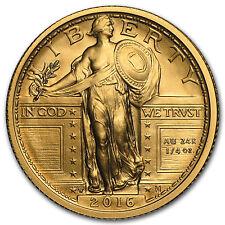 2016-W 1/4 oz Gold Standing Liberty Quarter Centennial with OGP