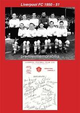 LIVERPOOL FC 1950-51 BOB PAISLEY BILLY LIDDELL ALBERT STUBBINS SIGNED (PRINTED)
