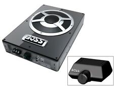 "New BOSS BASS1400 10"" Low Profile Amplified Subwoofer +Remote Bass Control Knob"