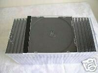 1000 NEW SINGLE JEWEL CD CASES WITH BLACK TRAY - BL110