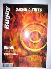 LE MONDE DU RUGBY N°73 2005 BIARRITZ CHAMPION / SAISON D'ENFER