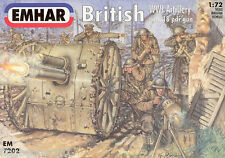 EMHAR 7202 WWI BRITISH ARTILLERY WITH 18 POUNDER GUN. 1:72 SCALE FIGURES