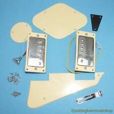 ELECTRIC GUITAR  HUMBUCKERS & LP PARTS CREAM/CHROME NEW