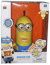 Despicable Me 2 ME2 Minion Tim Talking Action Figure Interactive Doll NEW