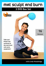 PILATES BARRE DVD - Barlates Body Blitz MAT SCULPT AND BURN BOX SET 16 workouts