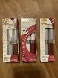 Covergirl Outlast Lip Color ~ #559 Plum Berry ~ 3 pks ~ Package Styles Vary ~