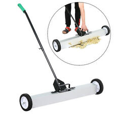 """36"""" Heavy Duty Magnetic Floor Sweeper Extra Wide Pick Up Roller Push Broom Tool"""