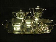 Antique Art Deco 1847 Rogers Bros Silverplate Legacy Coffee Pot Tea Teapot Set