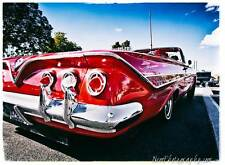 12x18 in. Poster 1961 Chevy Impala Lowrider, Vintage hot rod Garage Art