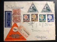 1933 The Hague Netherlands Airmail Cover To Medan Dutch East Indies BY KLM