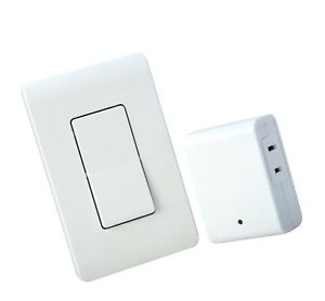 Woods Indoor Remote Control For Lights with Wall Switch (1 Polarized Outl... New