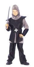 Kostüm Ritter schwarz Kinder Mittelalter Prinz Cosplay Gewand Karneval Fasching