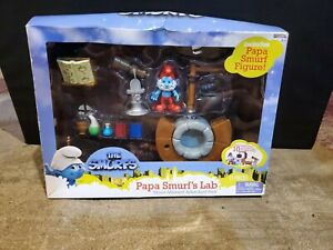 The Smurf's Papa Lab Movie Moment Adventure Set Pack Figure Jakks Pacific Peyo