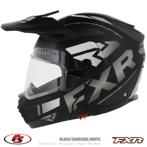 New 2020 FXR Maverick X Snowmobile Helmet Black/Char/White 2XL electric shield