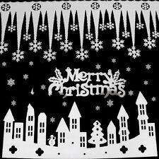2pcs White Snowflake Ice Strip Christmas Xmas Decoration Ornament Festival Party