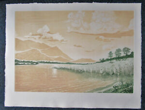 ANN TUTTLE -  SINGING GRASSES - LISTED ARTIST ETCHING - SPECIAL  ONLY $  49.99