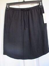 NWT - SONOMA  gray soft knit skirt - sz XS - Stretch waist