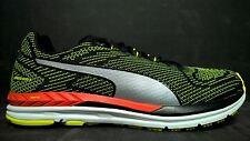 Puma Men's Size 11.5 Speed 600 S Ignite Running Shoes, 189087 02, Black White Ye
