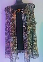 Women's Plus Size 26/28 Top, New With Tag, Avenue, Animal print Tunic Shirt
