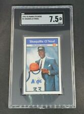 New listing Shaquille O'Neal 1992-93 Panini Sticker Rookie Card #1 SGC 7.5 Shaq Magic