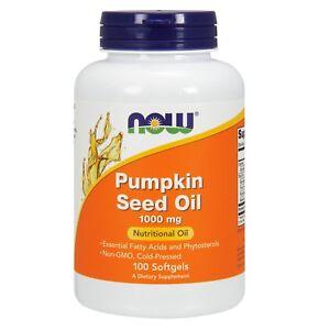 NOW Foods Pumpkin Seed Oil, 1000 mg, 100 Softgels