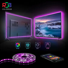 4*50cm LED Strip Lights Bluetooth APP Remote 5050 RGB Bar Room Car TV Backlight