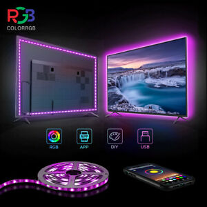 10 Feet LED Strip Lights Bluetooth APP Remote 5050 RGB Bar Room Car TV Backlight