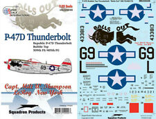 "P-47 D Bubbletop: Milt Thompson's ""Balls Out"" (1/32 decals, Superscale 320248)"