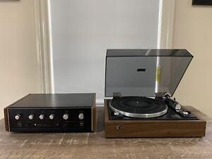 Vintage Sansui Solid State Stereo Amplifier And Turntable