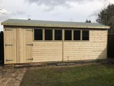 HEAVY DUTY APEX WORKSHOP SHED 20 X 10 19mm pressure treated Tanalised T&G