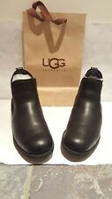 Original ugg uggs leather boots size 5.5 or eu 38 in a black colour.