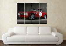 Large Alfa Romeo Giulia Race Car Classic Sports Wall Poster Art Picture Print