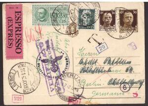 Regno, cartolina postale per espresso del 1942 per la Germania -DV03