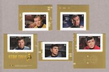 xca. STAR TREK 50th Anniversary Set of 5 cut booklet stamps MNH Canada 2016