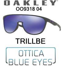 Occhiali Sole OAKLEY TRILLBE 9318 04 wrap sunglasses sonnenbrillen mask STEEL