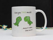 Tea-rex I LOVE YOU questa cifra molto tazza, caffè, tè DIVERTENTE TAZZA REGALO da jevge / 148