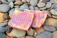 PINEAPPLE ORCHID HANDMADE LYE SOAP BARS 4 OZ LACE DESIGN ALL NATURAL